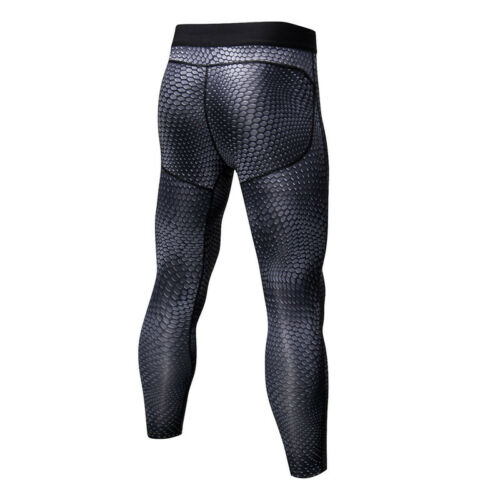 Mens 3//4 Compression Pants Running Dri fit Tight fit Workout Base Layers Spandex
