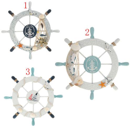Anhänger Deko Steuerrad Holzschiffe Fischernetz Fische Maritime 01