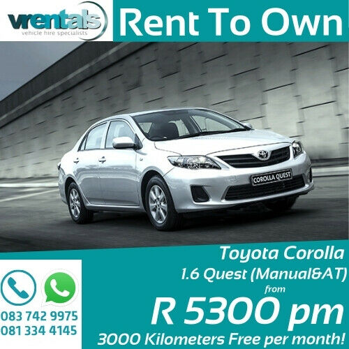 TOYOTA QUEST NOW AVAILABLE ON RENT TO OWN IN GAUTENG!