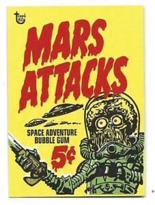 2018 Topps 80th Anniversary Wrapper Kunst Karten-no.97, Mars Attacks 1962 mint SP