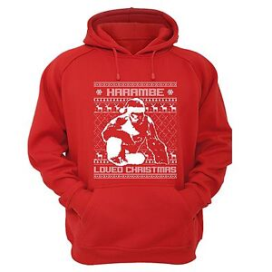 image is loading harambe loved christmas ugly christmas sweater gorilla animal