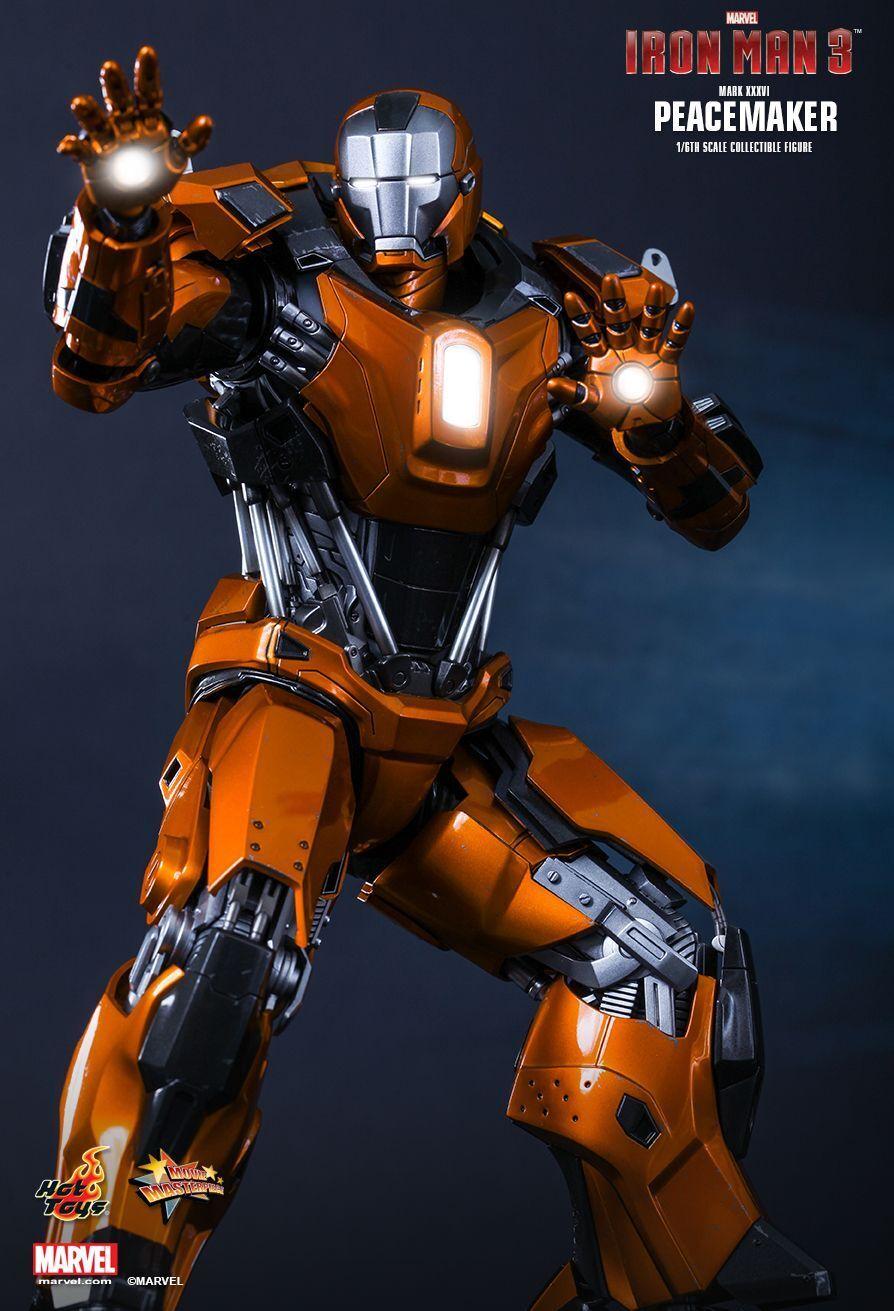 1 6 Hot Juguetes MMS258 Iron Man 3 MK36 Mark XXXVI pacificador Exclusivo Figura Nueva