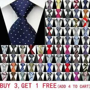 Classic-Black-Blue-Red-Grey-Men-Tie-Paisley-Stripe-Silk-Necktie-Wedding-Business
