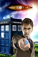 David Tennant - 10th Doctor Street Parking Sign - Doctor Who Blue Police Box