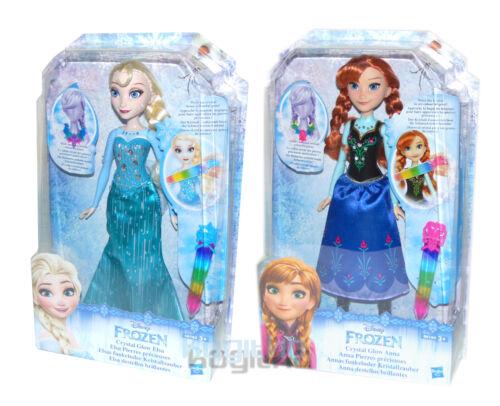 Frozen FROZEN BAMBOLA ELSA ANNA splendente cristallo magico personaggio ragazza 30cm