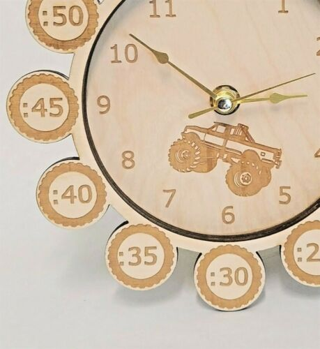 Help your kid learn to tell time! Child/'s Truck Clock Hand Made
