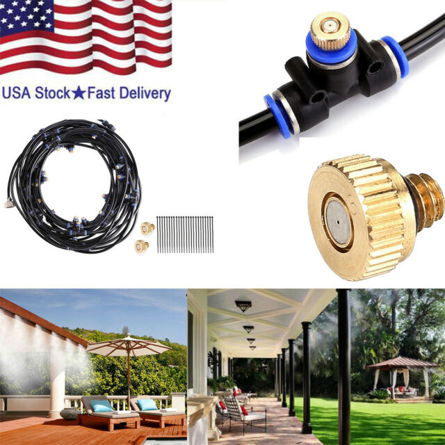 8M Outdoor Misting System Cooler Water Cooling Portable Patio Garden Spray  US