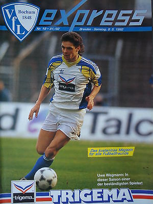 Dynamo Dresden Programm 1993//94 Bayer 04 Leverkusen