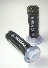 "Yamaha Motorcycle Bike Racing Black Comfort Gel Hand Grips 7/8"" Inch. USA"