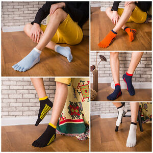 5-Pairs-Men-039-s-five-finger-toe-Breathe-Socks-Ankle-Casual-Sports-Low-Cut-Socks