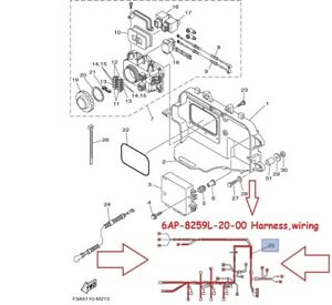 s-l300 Yamaha Pin Wiring Harness on trim gauge, outboard main, out board 11 pin, virago xv500,
