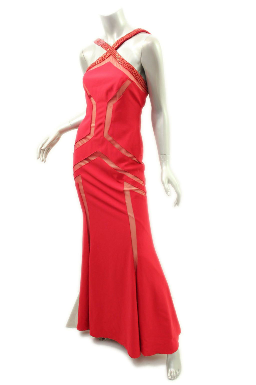JS COLLECTIONS rot Embellished Formal Gown Dress 6