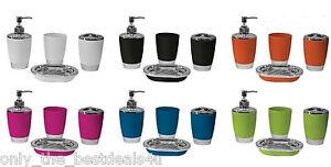 Bathroom-Accessory-Set-Soap-Dish-Dispenser-Toothbrush-Holder-luxury-Set-4pcs