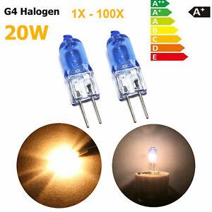1X-100X-G4-Halogen-Light-Bulb-20W-12V-Type-Chandelier-Capsule-Lamp-Soft-White-GL