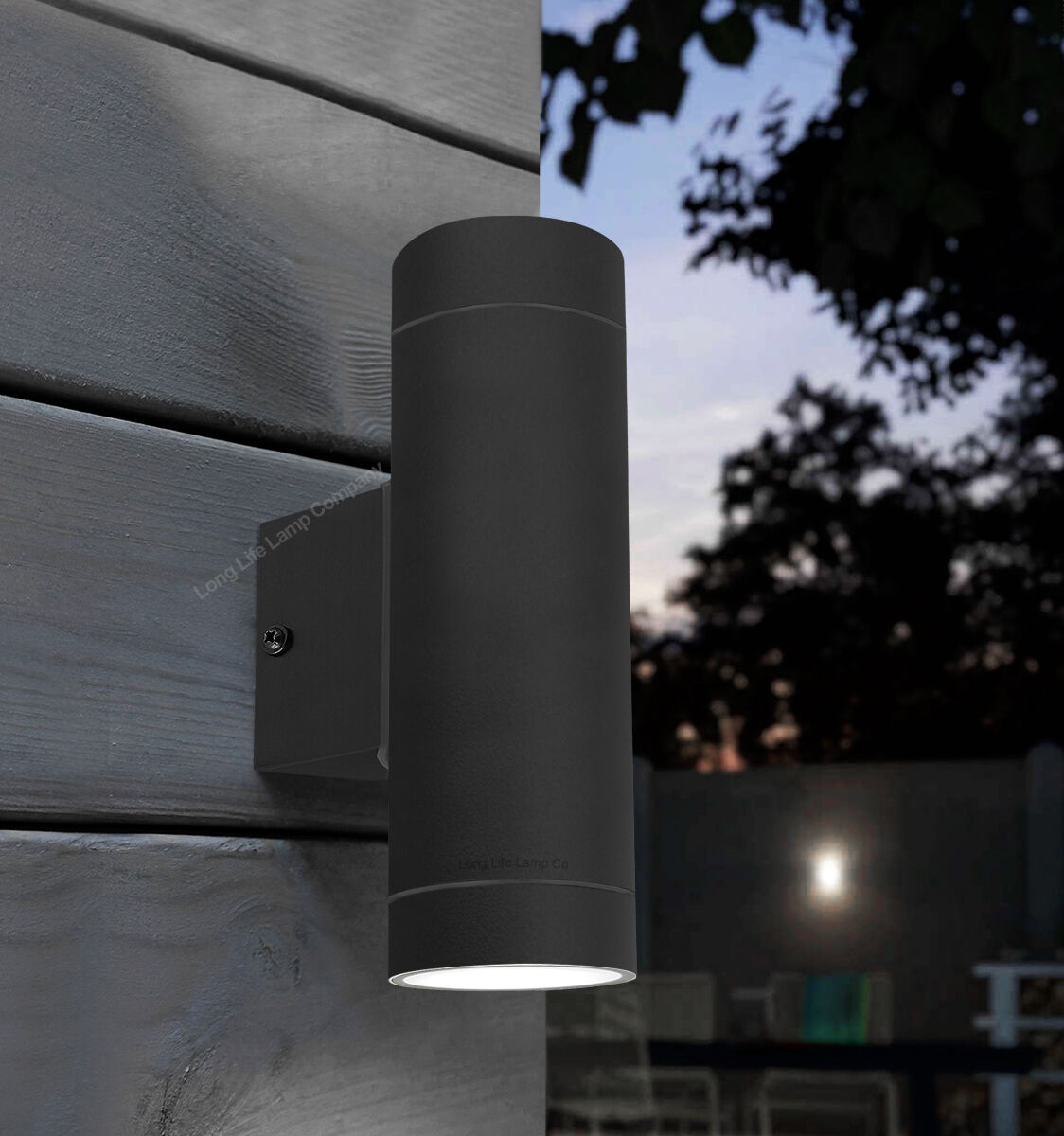 Black Stainless Steel Double Outdoor Wall Light Ip65 Up