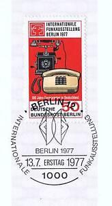 Berlin 1977: Internationale Rendue Nº 549 Avec Cachet Ersttags! 1 A 1904-g Nr. 549 Mit Ersttagsstempel! 1a 1904afficher Le Titre D'origine