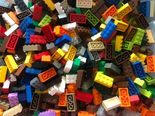 Lot of 1 Pound Mixed Color 2x4 Bricks Lego