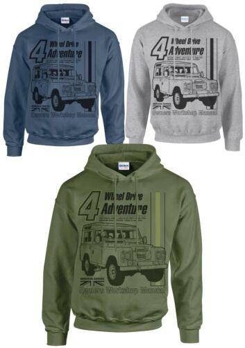 Land rover 4 wheel drive adventure owners manual hoodie vintage style print 4x4