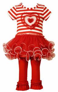 Leggings Hose 104 110 116 Bonnie Jean Kinder Mädchen langarm Tunika Tutu Kleid