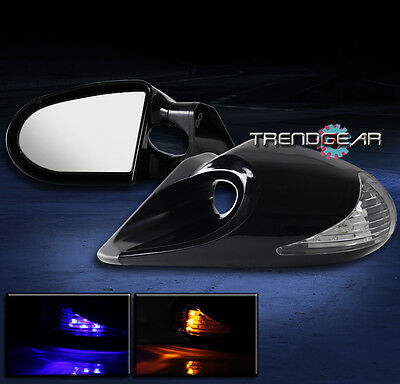 G2-M3 POWERED MIRROR BLUE/AMBER LED LIGHT CLEAR FOR 2003 2004 2005 2006 G35
