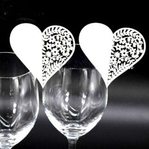 50X Butterfly Place Name Card Wine Glass Wedding Cards Party Table Decor XXF