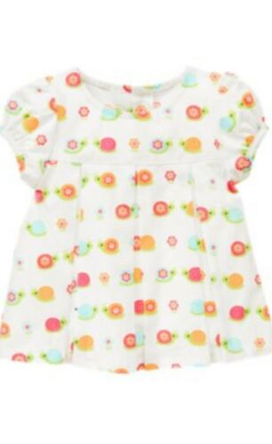 Gymboree Growing Flowers 2T 4T Snail Dress Shirt White Button Up 12