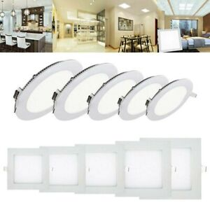 LED-Recessed-Panel-Spotlight-Ceiling-Downlight-Wall-Room-Lamp-Bulb-Light-3-12W
