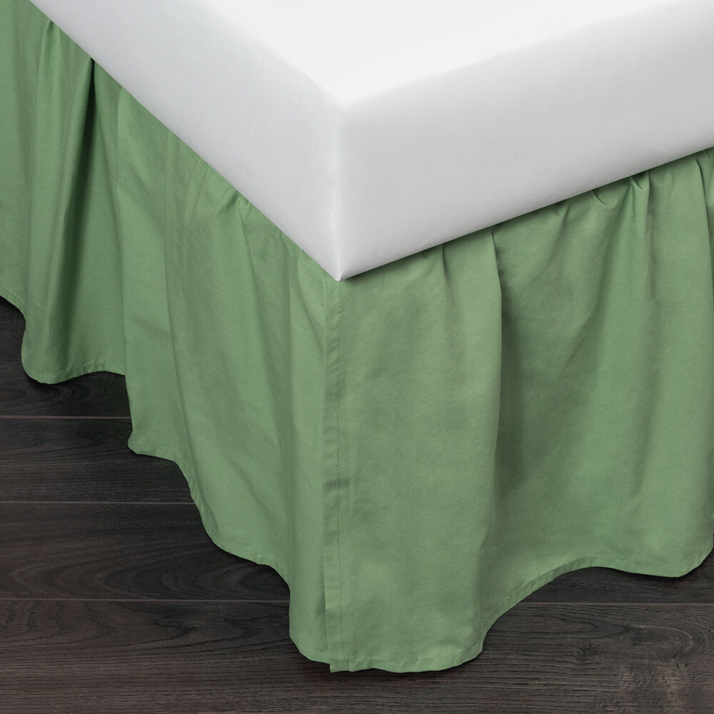 New Brighton Apple Green Bed Skirt by Quiltbay