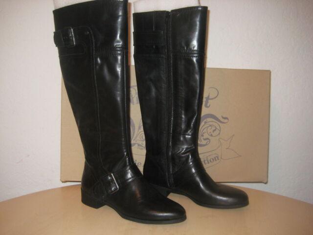 Vermillion Black Leather Riding Boots