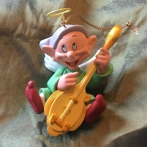 Disney Grolier Christmas Ornament Snow White Dwarf Dopey Holiday