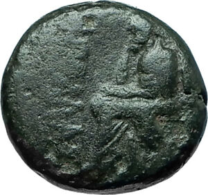 KOLOPHON-in-IONIA-50BC-Poet-Homer-of-ODYSSEY-Apollo-Ancient-Greek-Coin-i66151