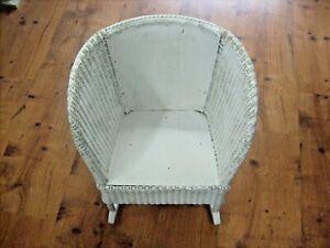 Kids White Wicker Rocking Chair Childs