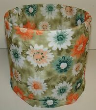 Green Floral Tubular Multi Function Headwear Balaclava Beanie Cap Scarf Mask
