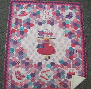 Cute baby crib lap quilt pink hat shopping purse dressup shoes