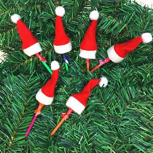 30PCS-Mini-Lollipop-Lollypop-Santa-Claus-Hats-Cap-Wrap-Christmas-Party-Decor
