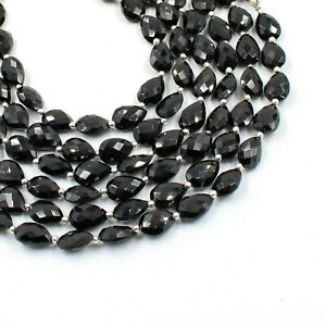 Natural Pyrite Gemstone Teardrop Loose Faceted Beads For Jewelry Making 8x12mm