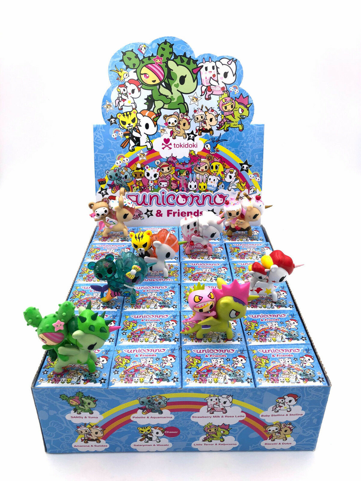 FULL CASE OF 24 UNICORNO AND FRIENDS SERIES BLIND BOX MINI FIGURES BY TOKIDOKI