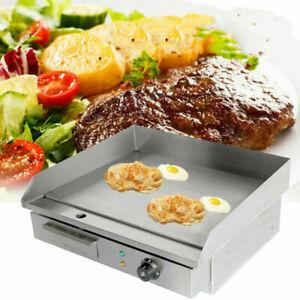 3KW-Electrique-BBQ-Plancha-Chauffante-Griddle-Plaque-Barbecue-Gril-inox-comptoir