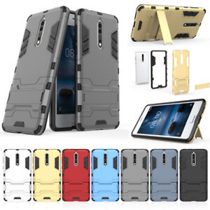 size 40 f0bdc 0e664 Details about For NOKIA 8 Shockproof Robot Heavy Duty Bumper tough Case  Cover 2 in 1 Shell