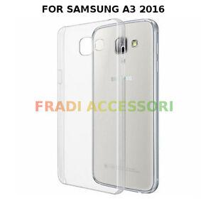 Cover case Samsung A3 2016 TPU ultra slim silicone TRASPARENTE morbida 0,3mm