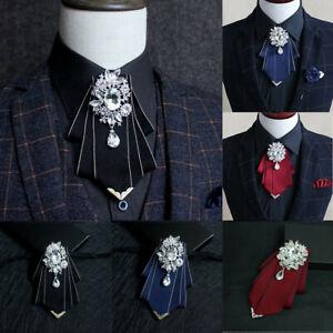 Men-Handmade-Rhinestone-Bow-Tie-Bridal-Wedding-Party-Charming-Necktie-Gift-Box