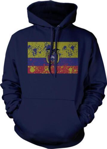 Ecuador Spatter Flag Ecuadorian Pride Bandera Ecuatoriano Hoodie Pullover
