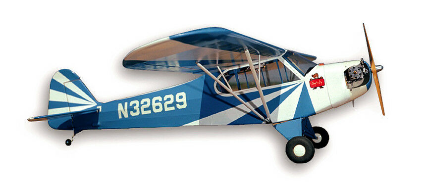 Nuovo SIG 1/6 Scale Clipped Wing J3 J-3 Cub RC Remote Control Balsa Airplane Kit
