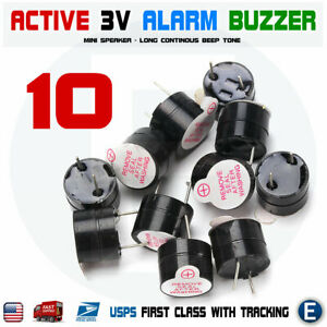 10pcs-Active-Buzzer-Magnetic-3V-Long-Continous-Beep-Tone-12-9-5mm-For-Arduino