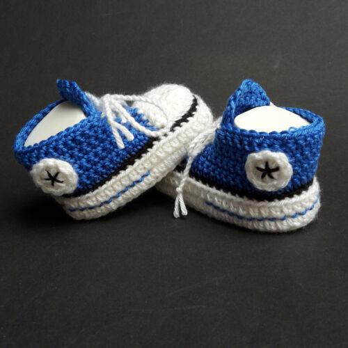 Babychucks Babyschuhe Chucks Geschenk Handarbeit gehäkelt gestrickt Größenwahl
