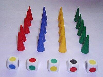 20 Pzi. Cono Colorate (per 5 In Giallo, Verde, Blu Oppure Rosso) E 5 Pz. Tavolozze-mostra Il Titolo Originale