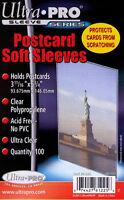 3,000 3000 Ultra Pro Premium Postcard Sleeves 3 11/16 X 5 3/4 Wholesale Lot