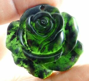 Details about  /Natural 100/% China black green jade hand-carved the tiger pendant necklace