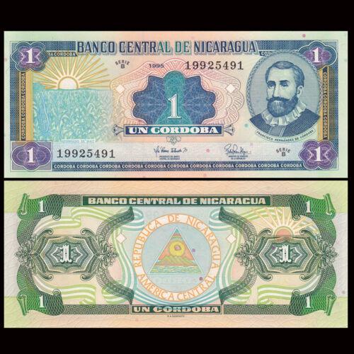UNC P-179 Nicaragua 1 Cordobas Original 1995 Banknotes