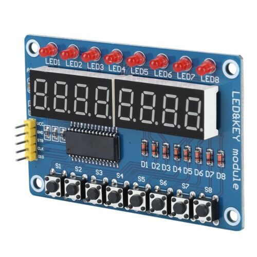 LED Display Module New Digital Display Module TM1638 With 8-bit Key Digital Tube
